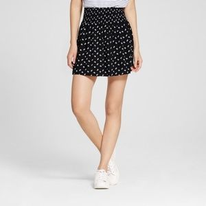 Mossimo Supply Co. Skirts - Women's Soft Skirt Black and White Floral Print XS